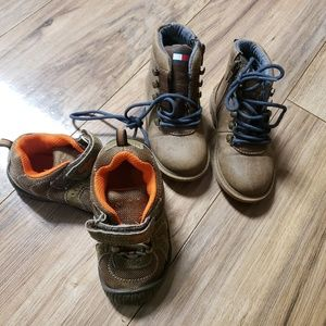 2 PAIRS OF TODDLER BOOTS/SHOES